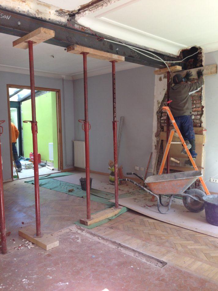 Ouverture mur porteur maison lambersart