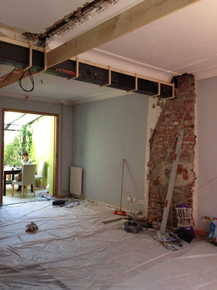 Ouverture d 39 un mur porteur lambersart technique fer ipn o home - Mur porteur maison ...